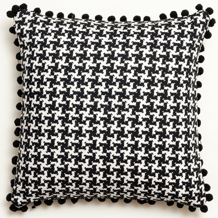 black and white abstract vintage cushion 381