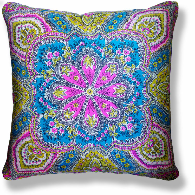 cyan abstract vintage cushion 845