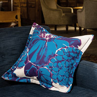 blue abstract vintage cushion 405