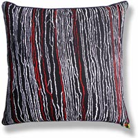 black and white abstract vintage cushion 464 Back