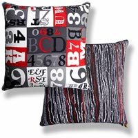 black and white abstract vintage cushion 464