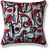 red abstract vintage cushion 492