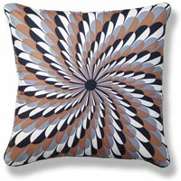 brown abstract vintage cushion 665 Back