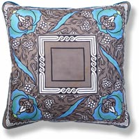 cyan floral vintage cushion cushion 666 Front