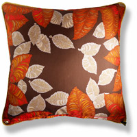 red abstract vintage cushion 771 Back