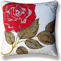 red floral animal vintage cushion 687 Front