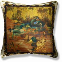 green animal vintage cushion 932
