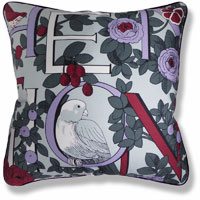 purple animal vintage cushion 949