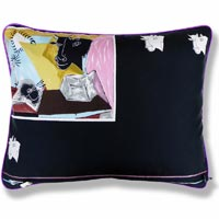 pink animal vintage cushion