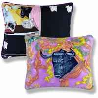 pink animal vintage cushion 978