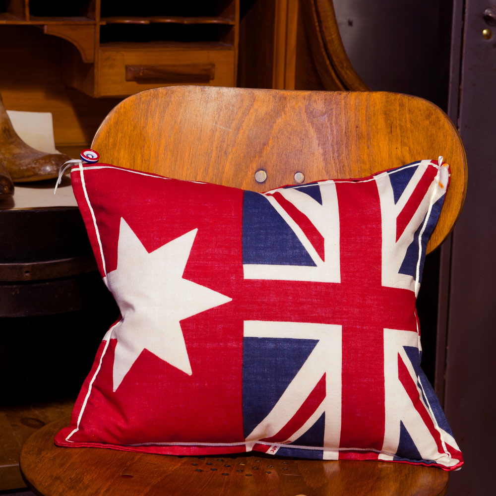 red flag vintage cushion 169