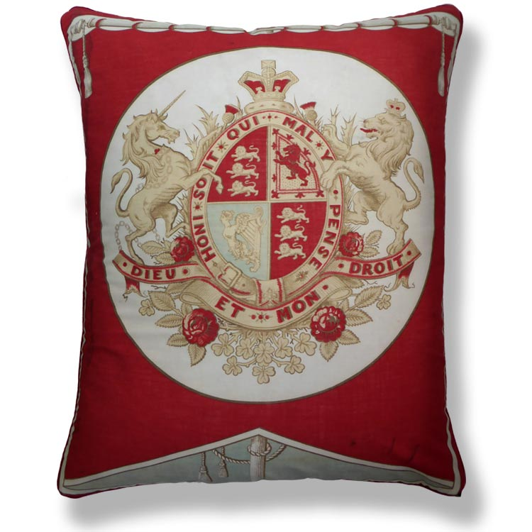red flag vintage cushion 817