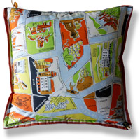 flag vintage cushion 397