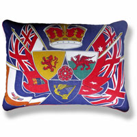 blue flag vintage cushion 755 Front
