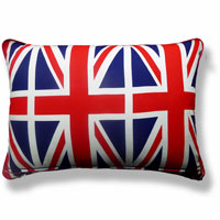 blue vintage flag union jack cushion 755 Back