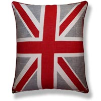 red flag vintage cushion 817 Front