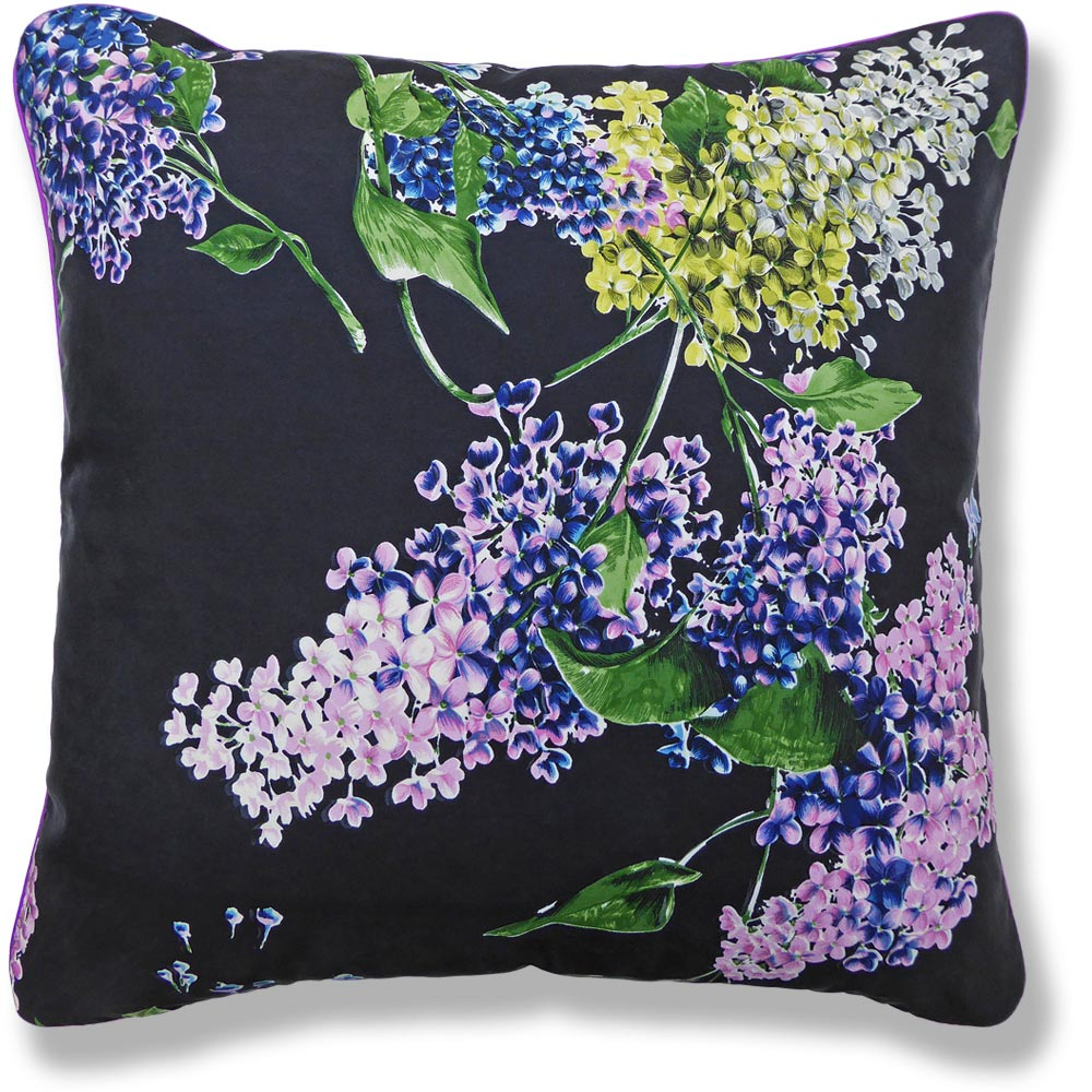 purple floral vintage cushion 917