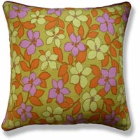 yellow floral vintage cushion 468