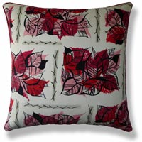 red floral vintage cushion 491 Front