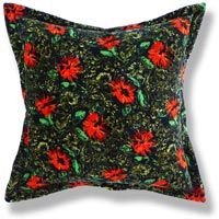 green floral vintage cushion 649 Front