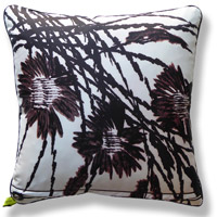 black and white floral vintage cushion 739