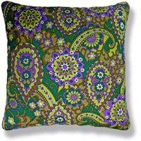 green floral vintage cushion 780 Front