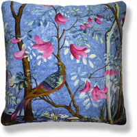 blue floral vintage cushion 850