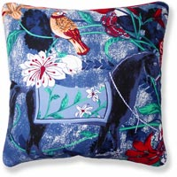 blue floral vintage cushion 870