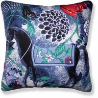 blue floral vintage cushion 871