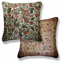 green floral vintage cushion 905