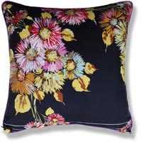purple floral vintage cushion