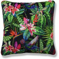 green floral vintage cushion 958