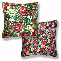 green floral vintage cushion 986