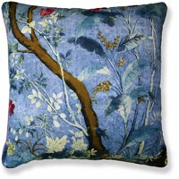 blue floral vintage cushion 989
