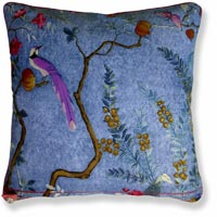 blue floral vintage cushion