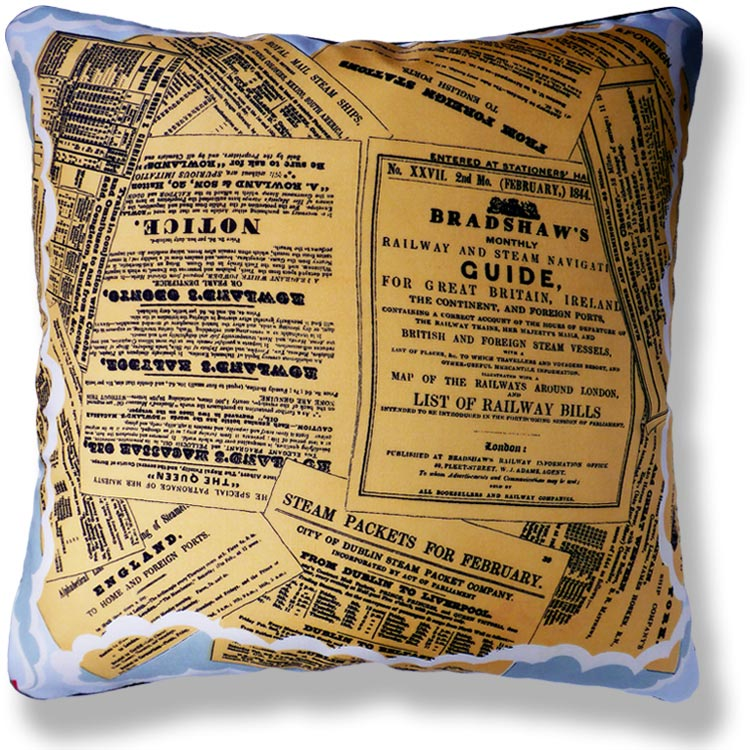 yellow graphic vintage cushion 786
