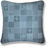 cyan graphic vintage cushion 1017