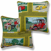 yellow graphic vintage cushion 1019