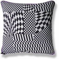 purple graphic vintage cushion 538 Back