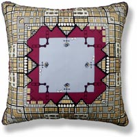 red graphic vintage cushion 703 Front