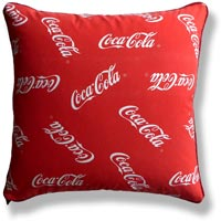 red graphic coca cola vintage cushion 727 Front