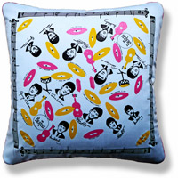 graphic vintage cushion 773 Front