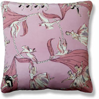 pink graphic abstract vintage cushion 819 Back