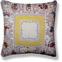 yellow graphic vintage cushion 831 Front