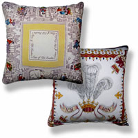 yellow graphic vintage cushion 831