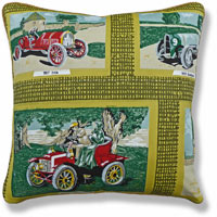 yellow graphic vintage cushion 924