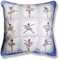 cyan graphic vintage cushion 991