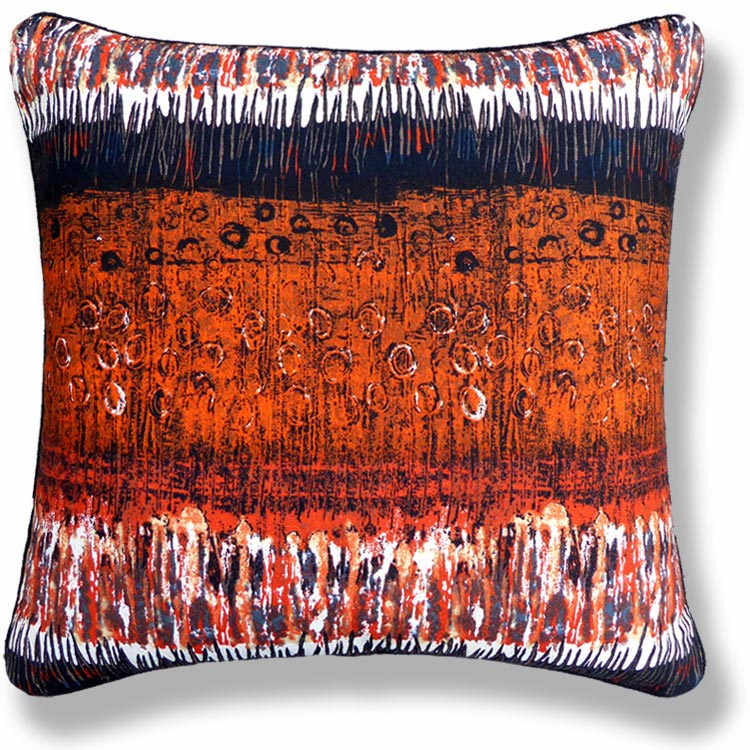 orange retro vintage cushion 527