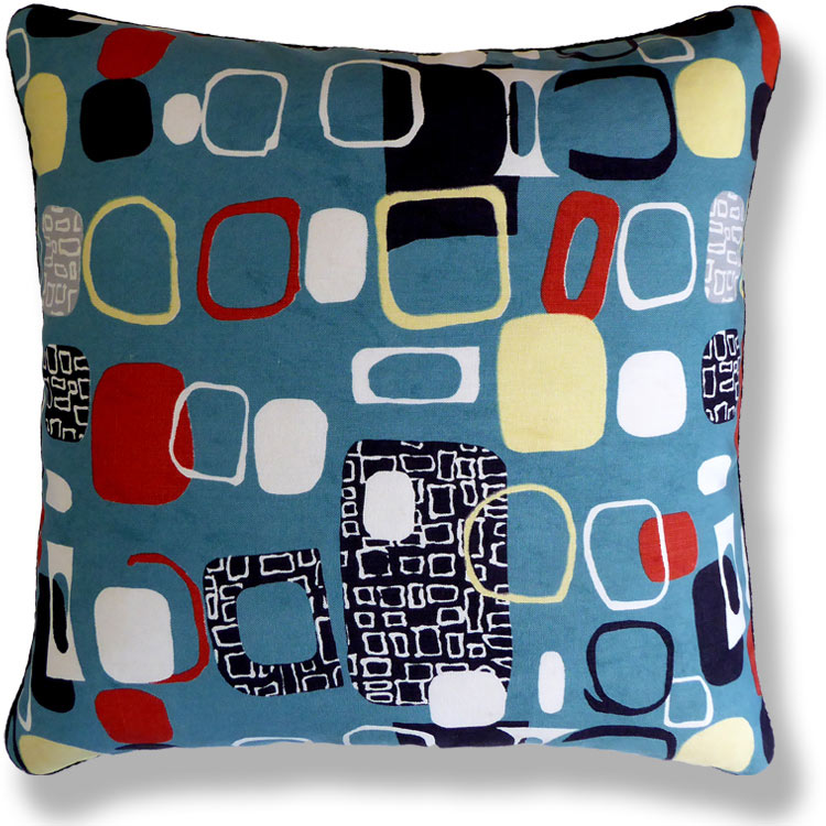 cyan retro vintage cushion 778