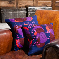 dark blue retro vintage cushion 401